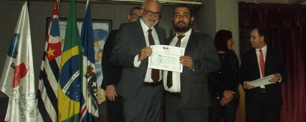 You are currently viewing Entrega de certificados aos participantes do curso Escolinha da Advocacia