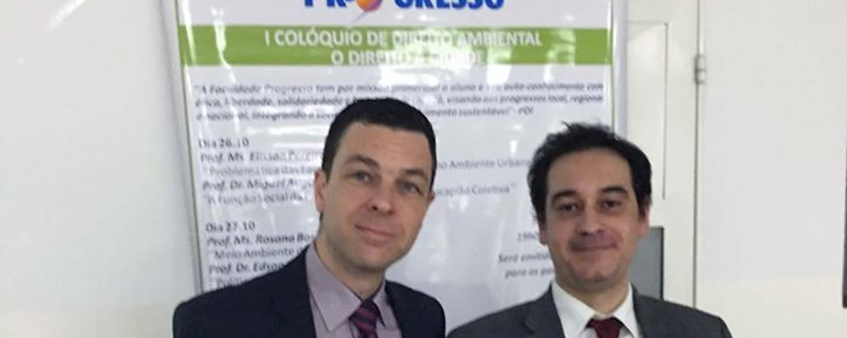 You are currently viewing Presidente da Comissão de Defesa ao Meio Ambiente e Proteção Animal, Dr. Fabio Valdecioli Cwejgorn participou como palestrante do I Colóquio de Direito Ambiental, organizado pela Faculdade Progresso.