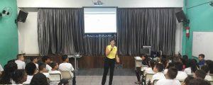 Palestra na Escola Maria Leda Fernandes Brigo com o tema: Cyberbullying