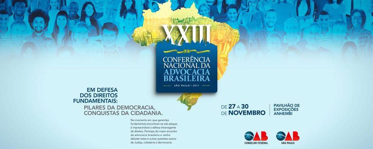 You are currently viewing Lançamento da XXIII Conferência Nacional da Advocacia.