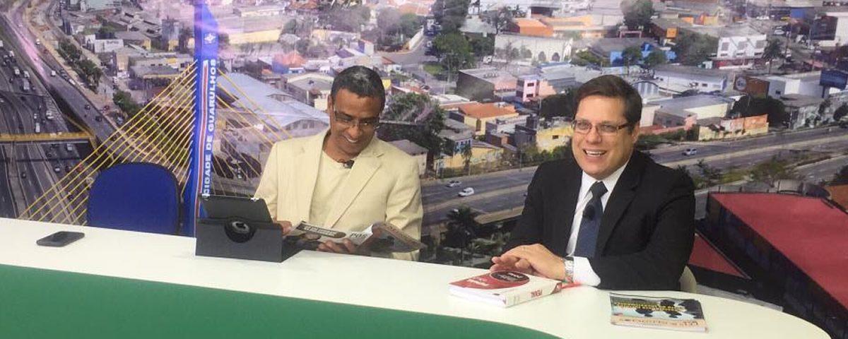 O Presidente Alexandre de Sá participa do Programa Especial Fato em Debate na TV Destaque de Guarulhos