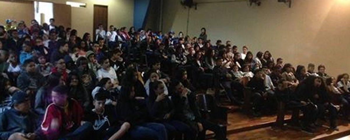 Palestra na Escola Estadual Conselheiro Crispiniano