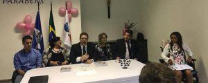 Solenidade de entrega da carteira profissional à Advogada Dra. Elaine Cristina Santos de Farias