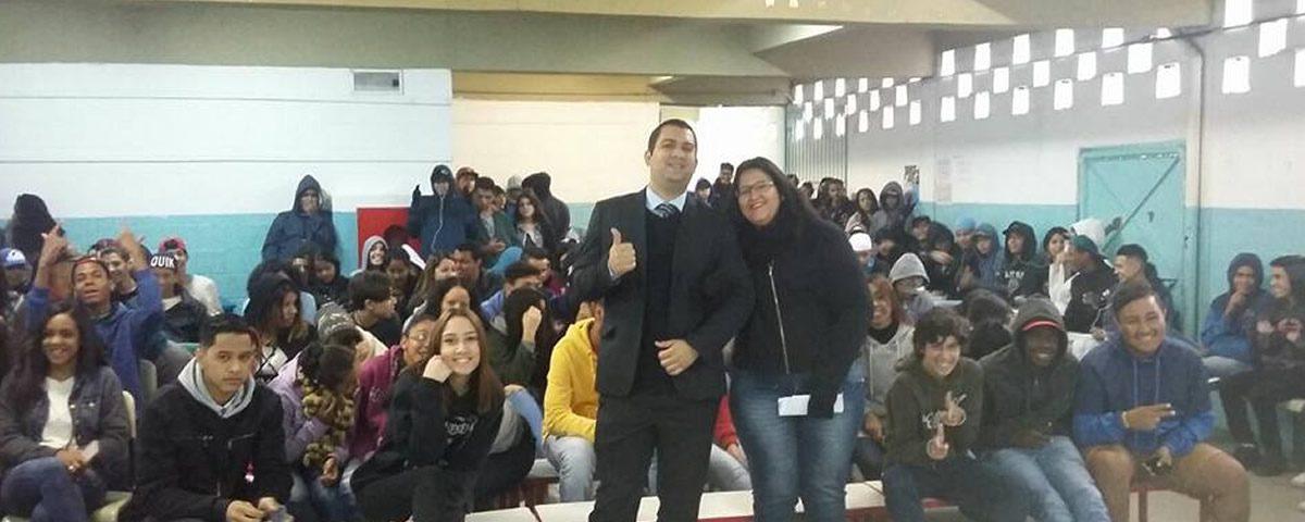 Palestra na Escola Estadual Prof° Alayde Maria Vicente