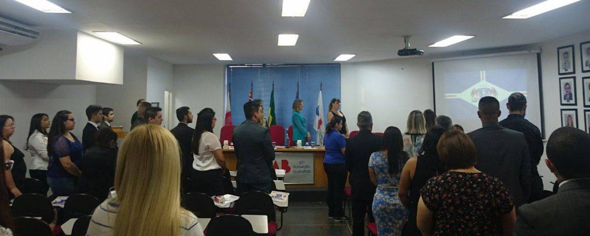 Solenidade de Entrega de carteiras e homenagem aos ex-presidentes em comemoração aos 41 anos da OAB Guarulhos.