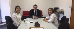 Reunião com a coordenadora do núcleo de Direito Previdenciário