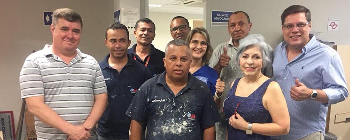 Obras da reforma das salas dos advogados nos fóruns de Guarulhos
