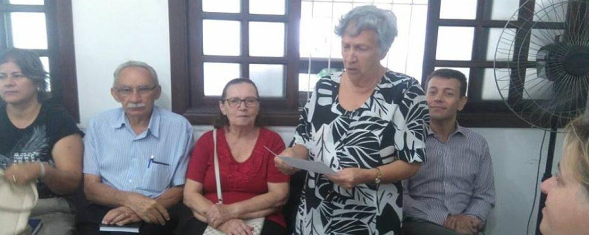 Reunião  no Conselho do Idoso Municipal de Guarulhos