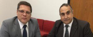 O Presidente Alexandre de Sá esteve reunido com o novo Presidente da Comissão de Combate à Corrupção no Processo Eleitoral Dr. Alexandre Cadeu Bernardes.