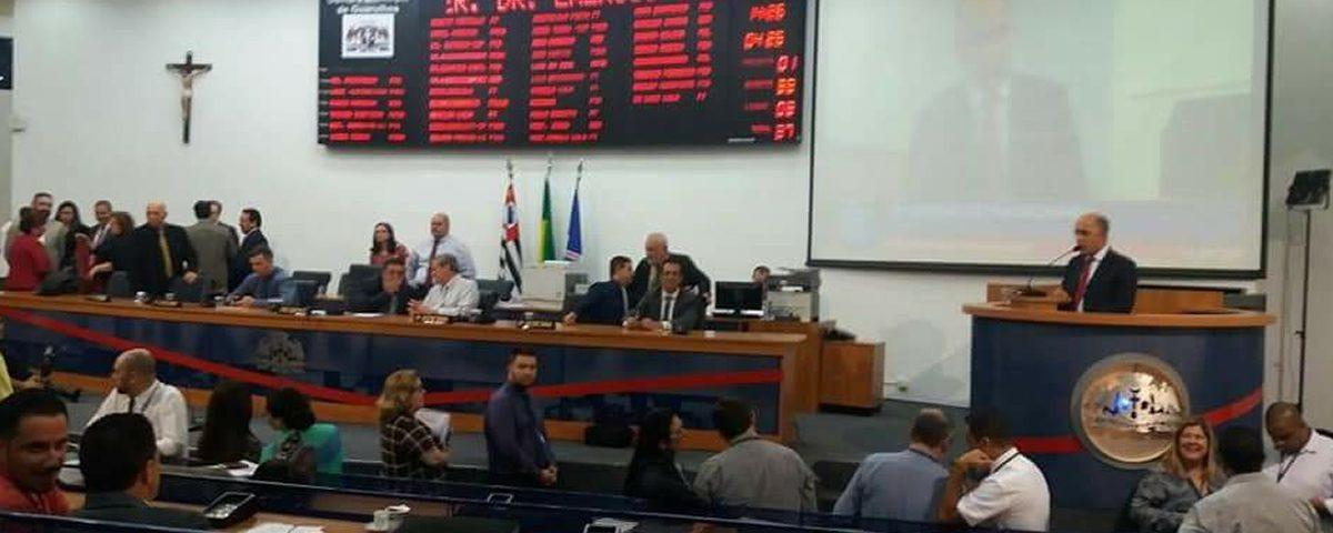 """Comissão de Direitos Humanos da OAB Guarulhos presente na Sessão Extraordinária da Câmara Municipal que tratou sobre o """"PL 1470/18 – Escola Sem Partido"""""""
