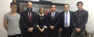 OAB Guarulhos recebe o Juiz Diretor do Fórum Estadual Dr. Ricardo Scaff