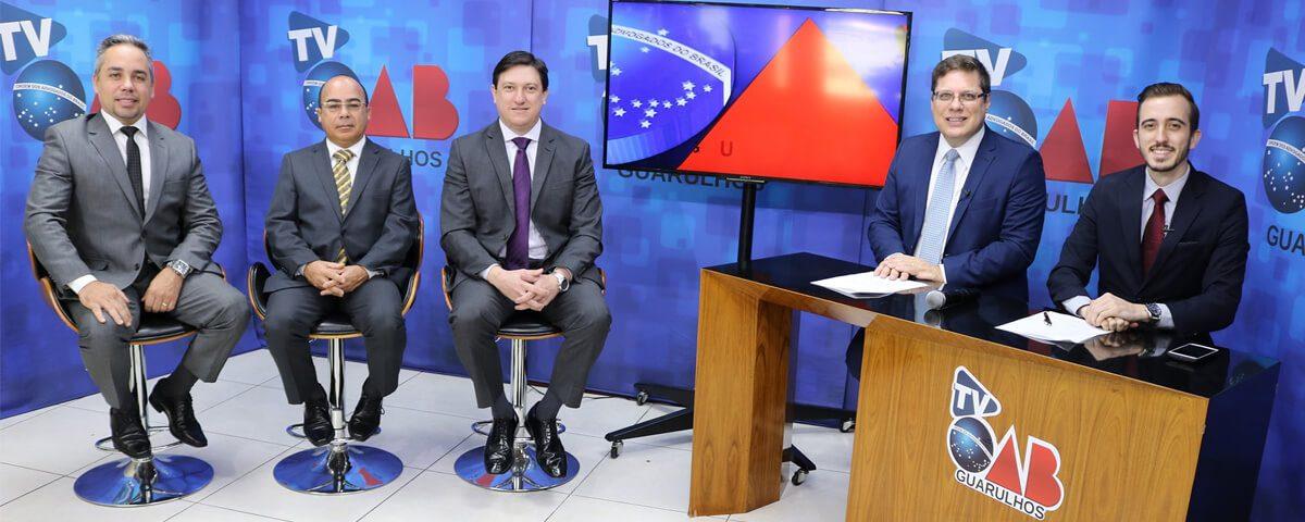 Gravação do Programa TV OAB Guarulhos.