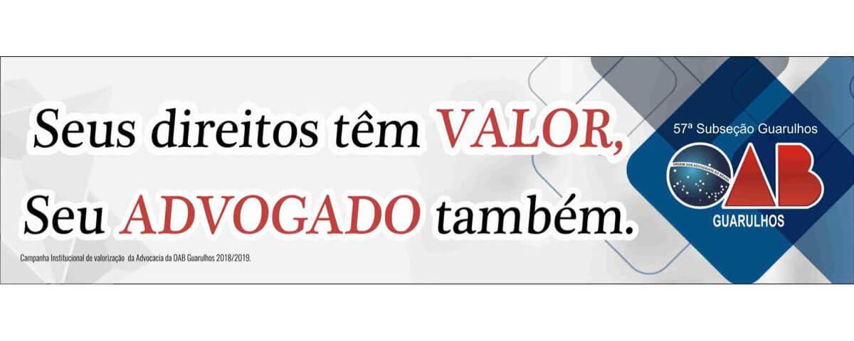 Nova campanha institucional de valorização da Advocacia 2018/2019.