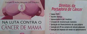A Comissão da Mulher Advogada da OAB Guarulhos está promovendo a campanha NA LUTA CONTRA O CÂNCER DE MAMA, projeto destinado à orientação de mulheres portadoras de Câncer.