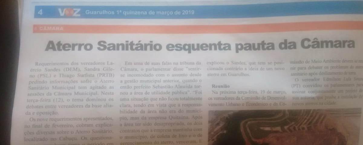 OAB Guarulhos participa de debates sobre o Aterro Sanitário do Cabuçu na Câmara Municipal