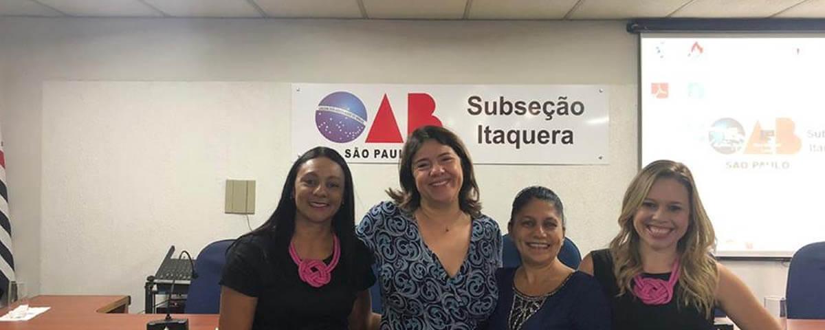OAB Guarulhos presente no evento ao Dia Internacional da Mulher promovido pela OAB Itaquera