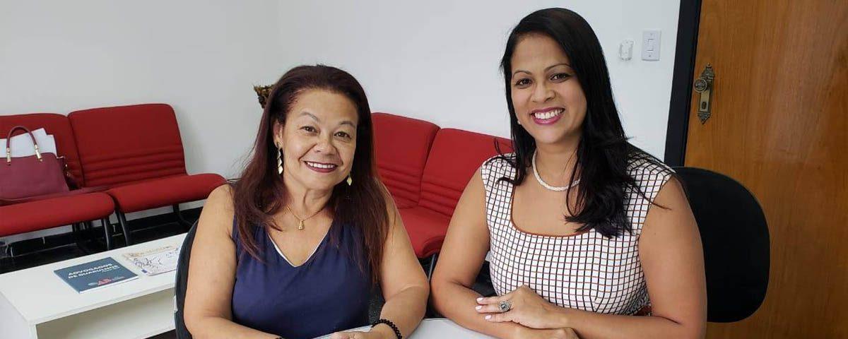 OAB Guarulhos recebe a Vice-Presidente da Comissão da Mulher da OAB Itaquera