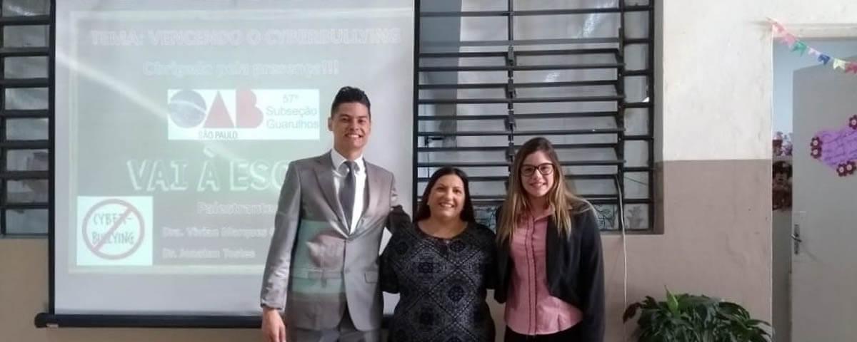 "Comissão OAB Vai à Escola palestra sobre ""Cyberbullying"" na Escola Roberta Maria Lopes Chaves – Período matutino"