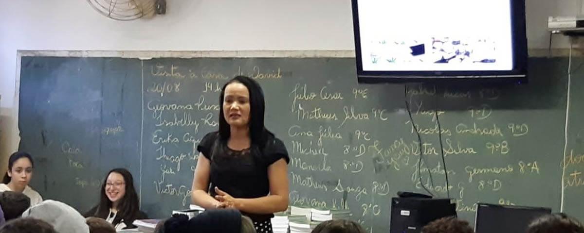 """Comissão OAB Vai à Escola realiza palestra sobre """"Drogas e Consequências"""" na Escola EPG Profa. Roberta Maria Lopes Chaves"""