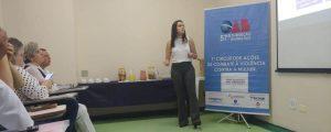 """I Circuito de Ações de Combate à Violência Contra a Mulher – Tema: """"Violência como questão de saúde pública"""", palestrante: Dra. Luíza Lahdo"""