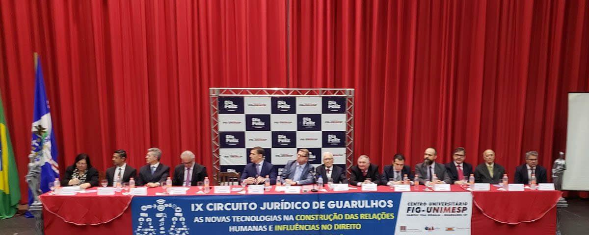 """OAB Guarulhos participa do encerramento do """"IX Circuito Jurídico de Guarulhos"""" na FIG-UNIMESP"""