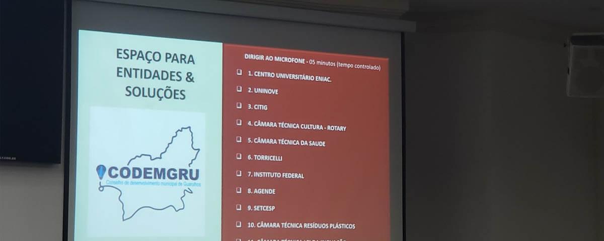 OAB Guarulhos presente em Reunião Ordinária do CODEMGRU