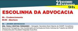 Vem aí: Escolinha da Advocacia na OAB Mairiporã