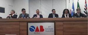 III Curso de Direitos e Prerrogativas da OAB Guarulhos – Debate aberto com Autoridades