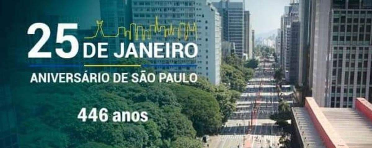 25 de Janeiro – Aniversário de São Paulo