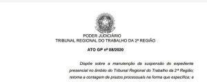 Audiência e Julgamento Telepresencial NO TRT-2