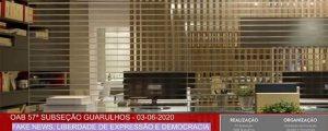 Transmissão da palestra sobre: Fake News, Liberdade de Expressão e Democracia (vídeo)