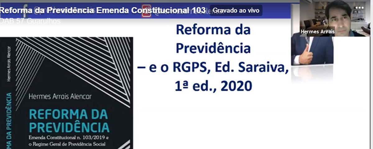 Transmissão da webinar sobre o tema: Reforma da Previdência – Emenda Constitucional 103