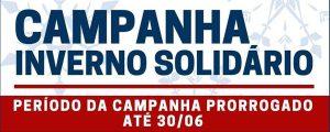 Campanha Inverno Solidário prorrogada até 30.06