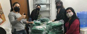 Campanha Inverno Solidário: Distribuição de cobertores e máscaras doados na Campanha Inverno Solidário