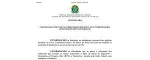 Comunicado Conjunto da Corregedoria Regional e da Coordenadoria dos Juizados Especiais Federais