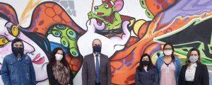 Entrega de cobertores e máscaras ao Núcleo Batuíra Serviço de Promoção da Família