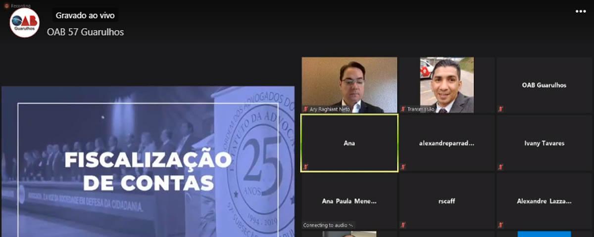 Transmissão do IV Congresso da Advocacia de Guarulhos – 1º dia