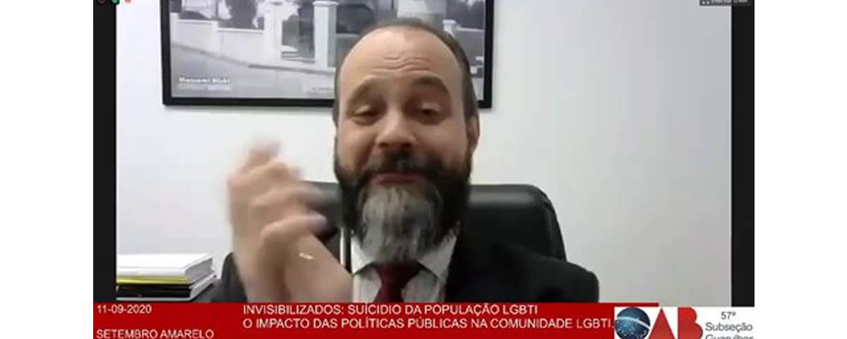 Transmissão da Webinar: Setembro Amarelo – Suicídio da população LGBTI+