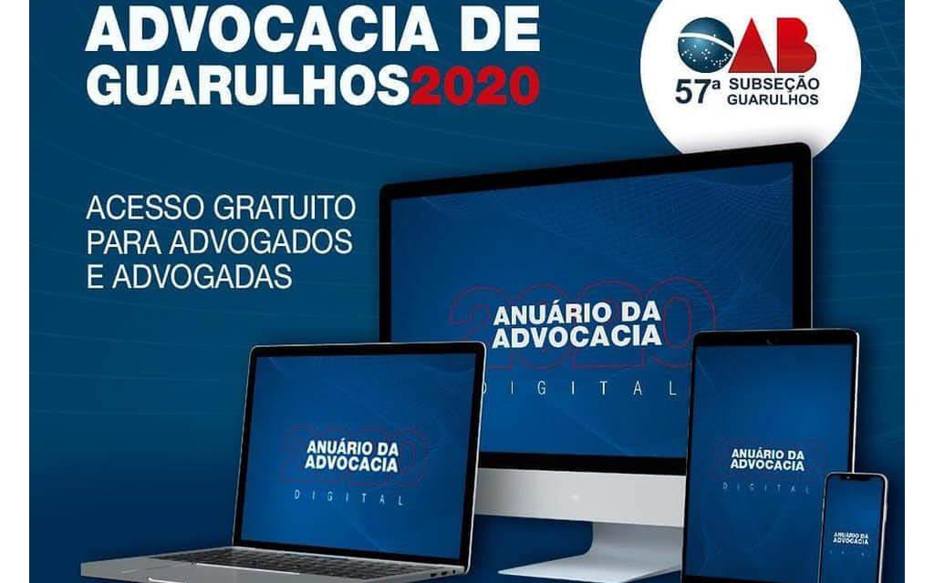 ANUÁRIO DA ADVOCACIA DE GUARULHOS 2020 – Inscrições prorrogadas até 20/10