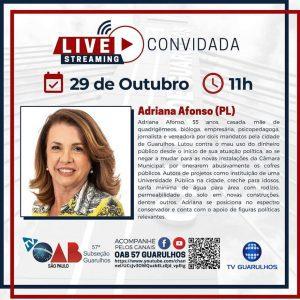 Read more about the article Entrevista com os candidatos à prefeitura de Guarulhos – Candidata Adriana Afonso (PL)