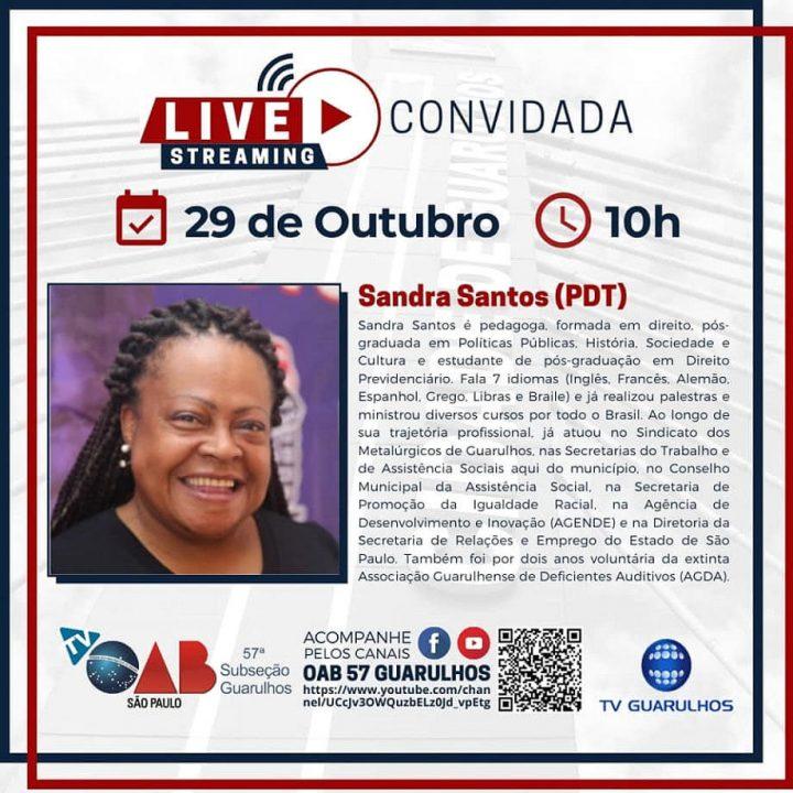 Entrevistas com os candidatos à prefeitura de Guarulhos – Candidata Sandra Santos (PDT)