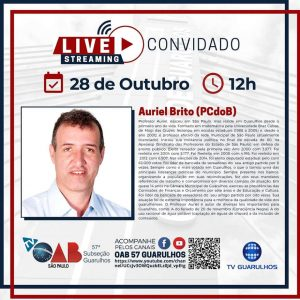 Read more about the article Entrevistas com os candidatos à prefeitura de Guarulhos – Candidato Auriel Brito (PCdoB)