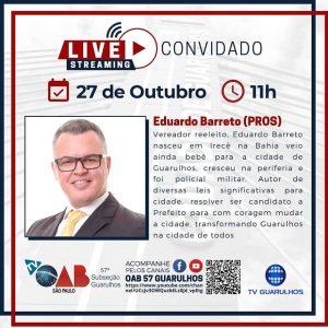 Read more about the article Entrevistas com os candidatos à prefeitura de Guarulhos – Candidato Eduardo Barreto (PROS)
