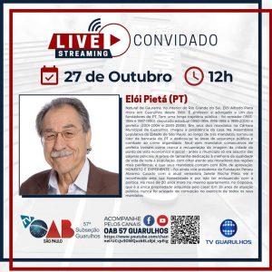 Entrevistas com os candidatos à prefeitura de Guarulhos – Candidato Elói Pietá (PT)