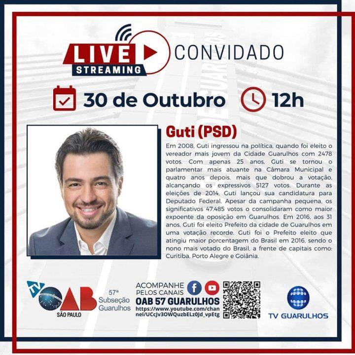 Entrevistas com os candidatos à prefeitura de Guarulhos – Candidato Guti (PSD)
