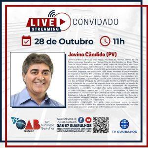 Read more about the article Entrevistas com os candidatos à prefeitura de Guarulhos – Candidato Jovino Cândido (PV)