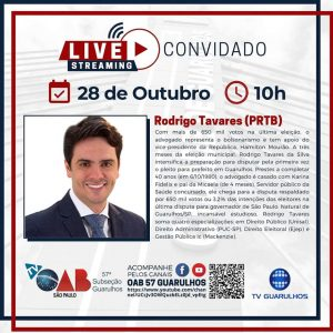 Read more about the article Entrevistas com os candidatos à prefeitura de Guarulhos – Candidato Rodrigo Tavares (PRTB)