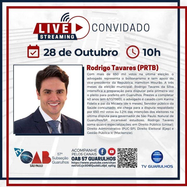 Entrevistas com os candidatos à prefeitura de Guarulhos – Candidato Rodrigo Tavares (PRTB)