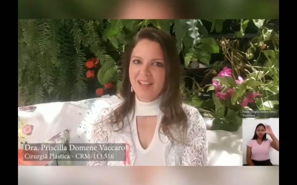 #OutubroRosa – A Dra. Priscila Domene Vacarro, médica e especialista em cirurgia plástica, traz uma linda mensagem nesta campanha do OUTUBRO ROSA (vídeo)