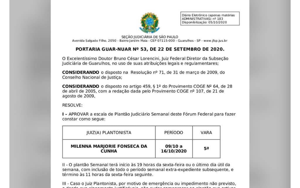 Portaria GUAR-NUAR Nº53